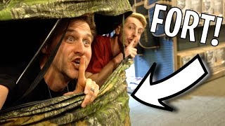 Download SECRET TENT FORT IN CABELAS! Video