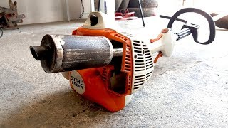 Download Homemade Exhaust MUFFLER For Trimmer ? Video
