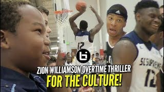 Download Zion Williamson Overtime THRILLER vs Notre Dame Commit: Standing Room ONLY! Video
