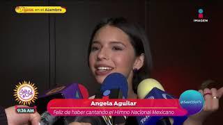 Download Pepe Aguilar defiende a su hija Ángela tras entonar el Himno Nacional | Sale el Sol Video