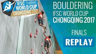 Download IFSC Climbing World Cup Chongqing 2017 - Bouldering - Finals - Men/Women Video