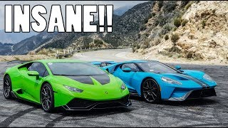 Download 2018 FORD GT vs 800bhp LAMBORGHINI HURACAN!! Video
