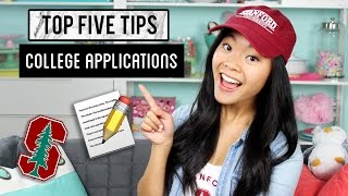 Download TOP FIVE TIPS - College Applications! Video