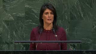 Download Ambassador Haley Before a UN General Assembly Vote on Jerusalem Video