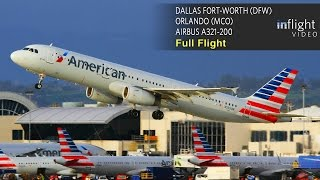 Download American Airlines Full Flight   Dallas Ft Worth to Orlando   Airbus A321 (with ATC) Video