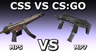 Download CSS VS CS:GO: MP5 VS MP7 Video
