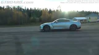 Download [4k] RENNtech Mercedes GT-S 612 HP (ECU) vs Nissan GTR tuned with ECU, intake and exhaust (590 HP) Video