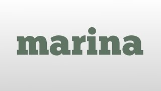 Download marina meaning and pronunciation Video
