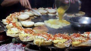 Download Super Fast Cooking Skills - BURGER MAKING - Bun Kabab Street Food of Karachi Pakistan Video