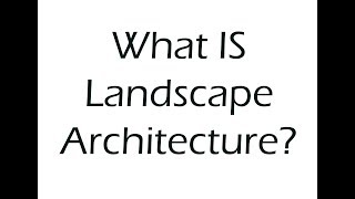Download What is Landscape Architecture? Video