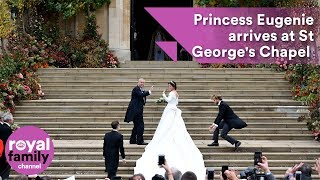 Download Princess Eugenie arrives at St George's Chapel with Prince Andrew Video