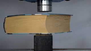 Download Thick Book vs Hydraulic Press - How to turn a book back to wood Video