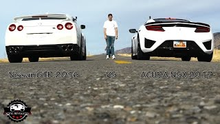 Download ACURA NSX 2017 VS NISSAN GTR 2016 Video
