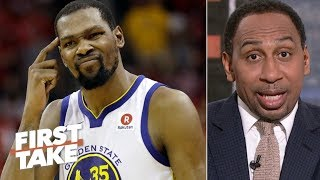 Download Kevin Durant outranks James Harden as the NBA's most unstoppable player – Stephen A. | First Take Video