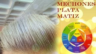 Download Matizar Mechones o Rayos Color Plata ( How to tone down yellow reflects and make hair silver/white) Video