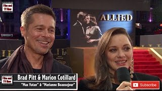 Download Brad Pitt & Marion Cotillard Laugh & Share Jokes At The Allied UK Premiere Video