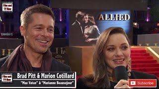 Download Brad Pitt & Marion Cotillard Laugh & Share Jokes At The Allied UK Premiere Video