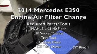 Download 2014 Mercedes E350 (M276) Engine Air Filter Change Video
