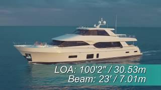 Download Ocean Alexander 100 Skylounge (2018-) Test Video - By BoatTEST Video