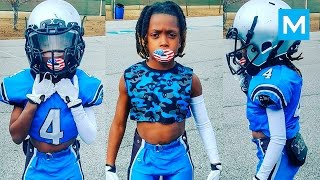 Download 8 Year Old American Football Phenom Jaylen Huff | Muscle Madness Video