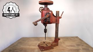 Download Antique Rusty Bench Drill - Detailed Restoration Video