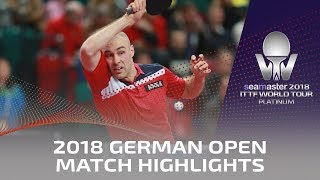 Download 2018 German Open Highlights I Gionis Panagiotis vs Daniel Habesohn (Qual) Video