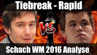 Download Schach WM 2016 Tiebreak Finale | Carlsen vs Karjakin | Schach-Analyse Deutsch Video