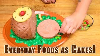 Download Everyday Foods as Cakes! Satisfying Cake Decorating: Coke Bottle, Pizza, Ham, Turkey, Pumpkin, Donut Video