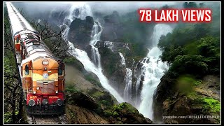 Download AMARAVATHI EXPRESS, DUDHSAGAR WATERFALLS, BRAGANZA GHATS | Indian Railways Video