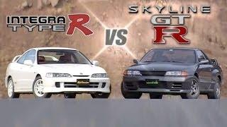 Download [ENG CC] FWD vs 4WD - Integra Type R DC2 200Hp vs Skyline R32 GT-R 280Hp HV24 Video