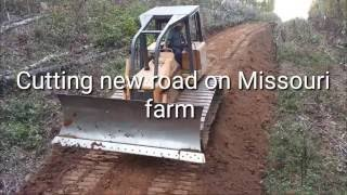 Download Cutting new road with Bulldozer on Missouri farm Video