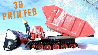 Download 3D Printed Radio Controlled RED SNOW BLOWER & TRACKED MACHINE - Robots Doing Work | RC ADVENTURES Video
