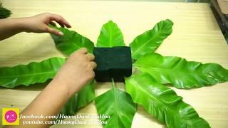 Download Cách cắm hoa để bàn dễ thương ,Lá Ổ Phụng và hoa hồng tím Video