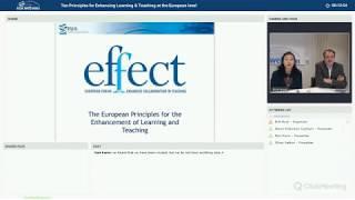 Download EUA webinar: Ten Principles for Enhancing Learning & Teaching at the European level Video