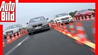 Download BMW 750i vs. Audi A8 vs. Mercedes S500 vs. Porsche Panamera GTS Video