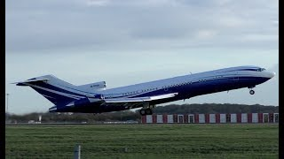 Download Beautiful Boeing 727 M-STAR Departing London Stansted Airport Video