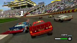 Download Cars 1 the Videogame- Race 5 No Com - Lightning Mcqueen VS Summer Grand Prix Video