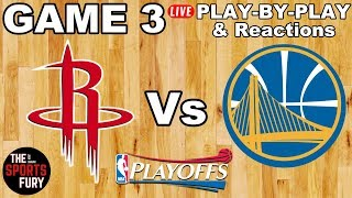 Download Rockets vs Warriors Game 3 | Live Play-By-Play & Reactions Video