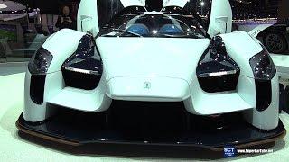 Download 2018 Scuderia Cameron Glickenhaus SCG 003S - Exterior Interior Walkaround - 2017 Geneva Motor Show Video