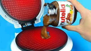 Download What if to Drop NUTELLA into Waffle Maker Video