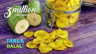 Download Yellow Banana Chips, Banana Wafers, Raw Banana Wafers by Tarla Dalal Video