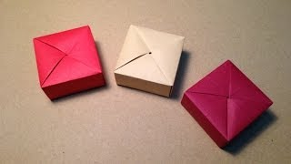 Download Origami Gift Box with One Sheet of Paper Video