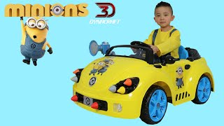 Download Unboxing Dynacraft Minions 6V Rocket Car Electric Battery Powered Ride On Car Ckn Toys Video