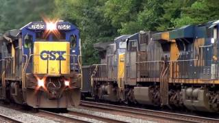 Download Pair CSX Dash 8 Standard and Wide Cab in YN2 Paint Video