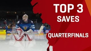 Download Top 3 Saves | Quarterfinals | #IIHFWorlds 2017 Video
