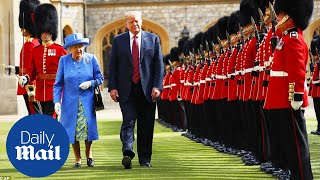 Download President Trump and First Lady are greeted by the Queen - Daily Mail Video