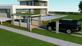 Download IdealPark car lift. Invisible solution for private house. Video