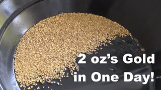 Download 2 oz of Gold in One Day! Gold Dredging on the Rogue River 2015 Season - Team Dredging New Record Video