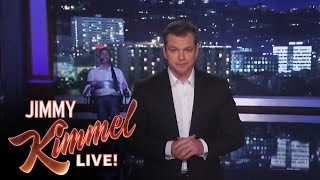 Download Matt Damon Takes Over Jimmy Kimmel Live Video
