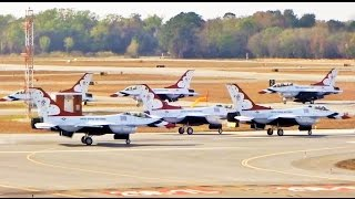 Download Entire USAF Thunderbirds Fleet Departs at Same Time (ATC Included) Video